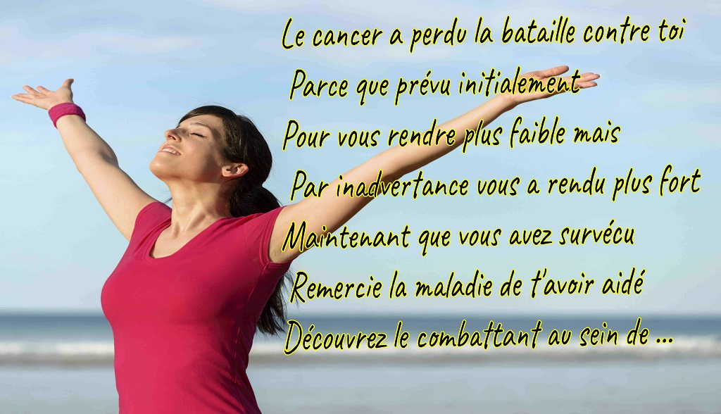 Cancer lost the battle-French