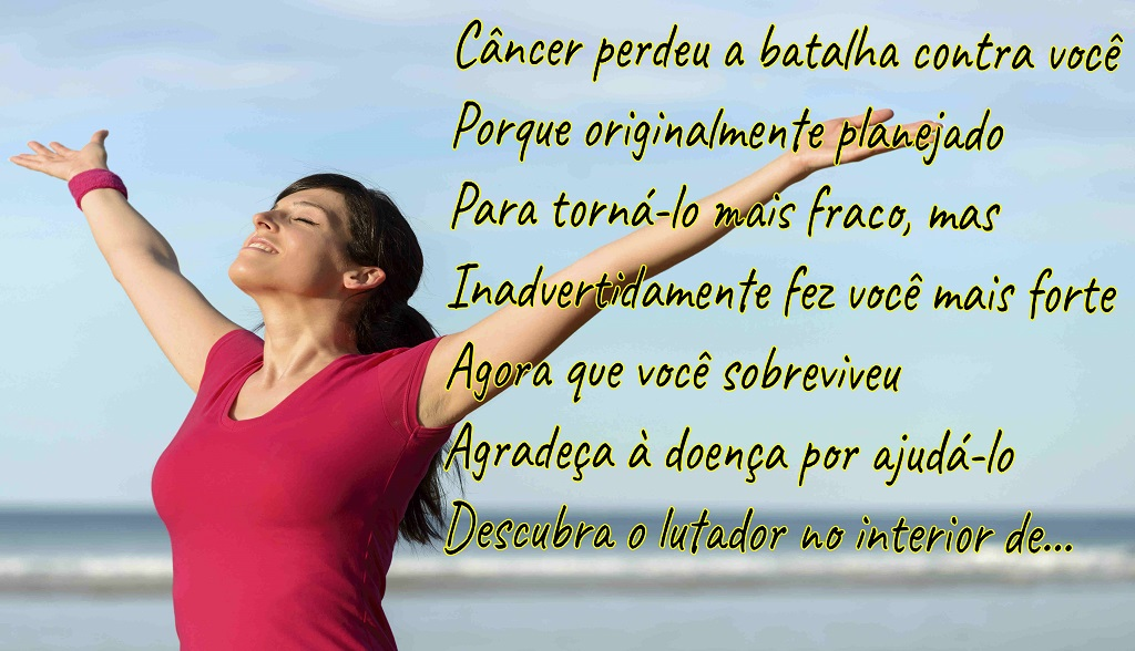 Cancer lost the battle-Portuguese