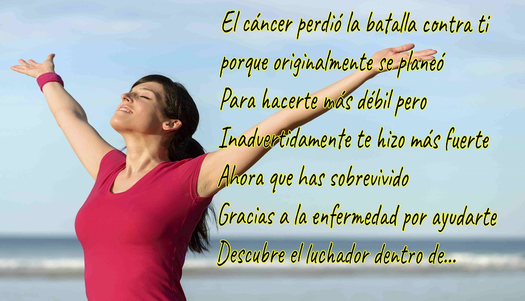 Cancer lost the battle-Spanish